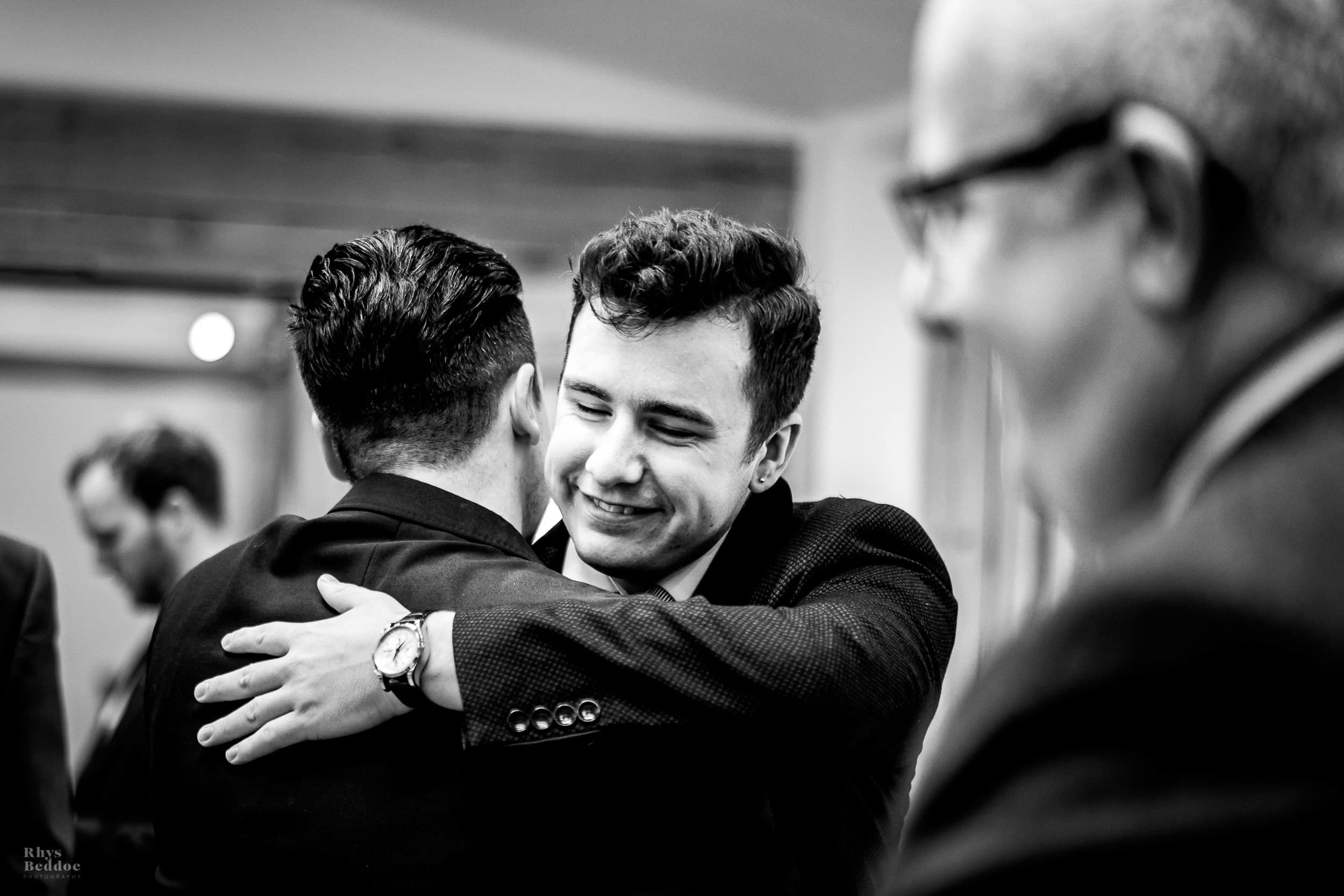 hugs at Mythe Barn Wedding venue