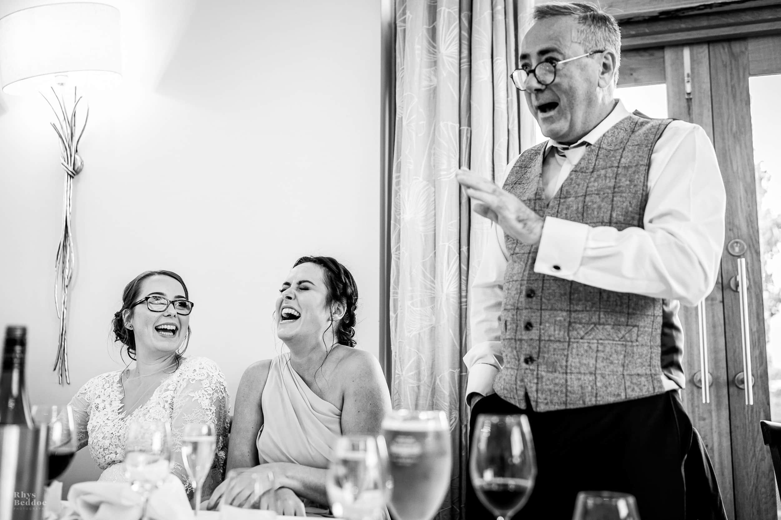 Father of the brides speech at mythe barn