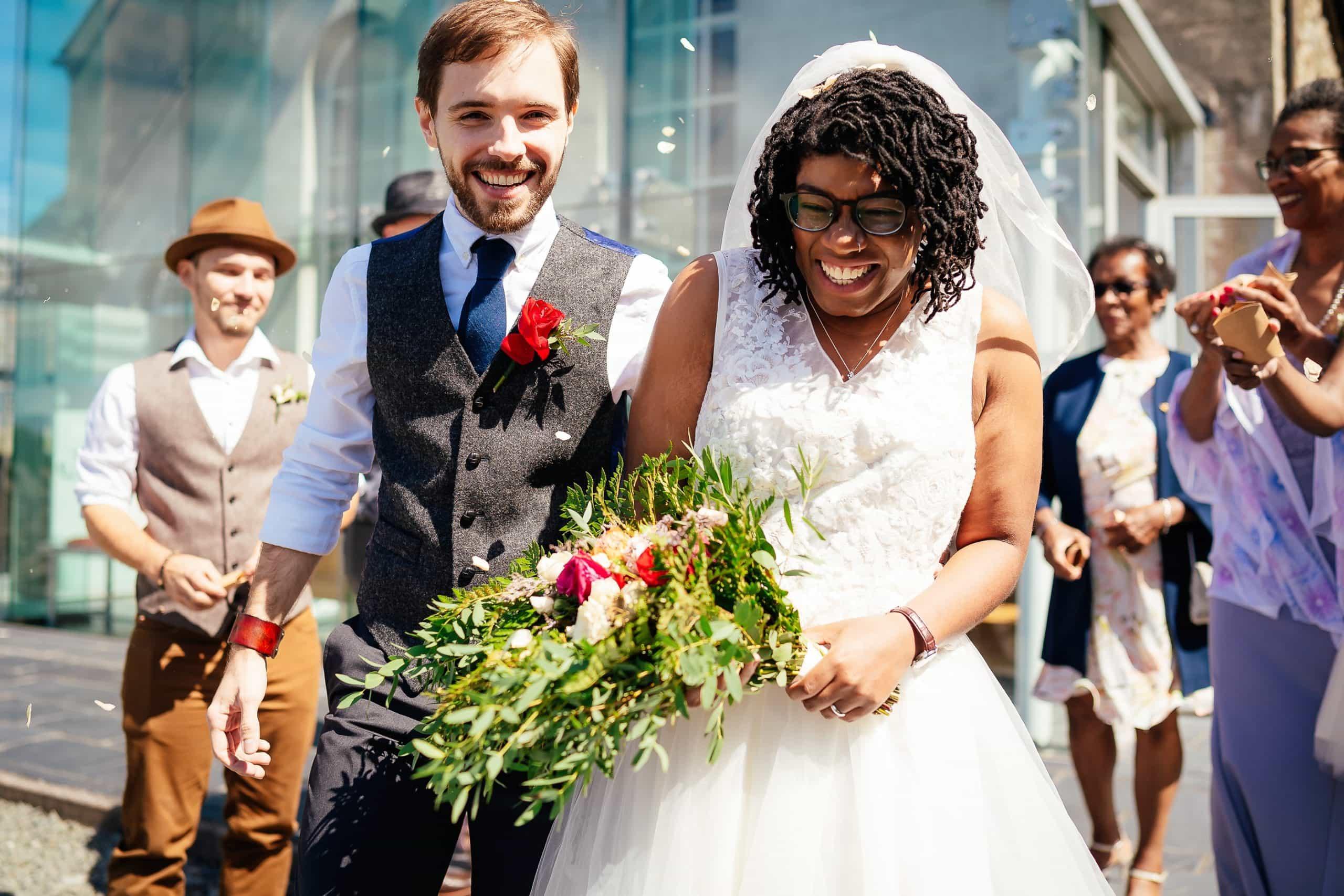 Confetti at Nant Gwrtheyrn Wedding